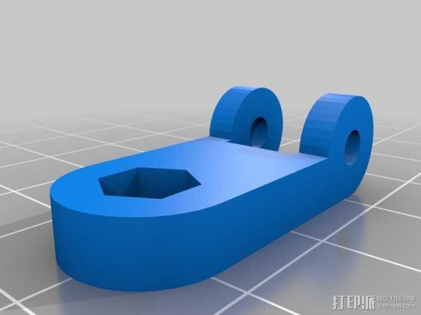 12V LED灯安装框架 3D模型  图5