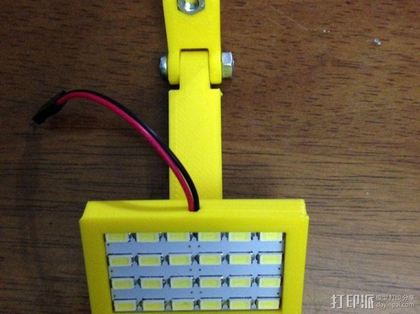 12V LED灯安装框架 3D模型  图6