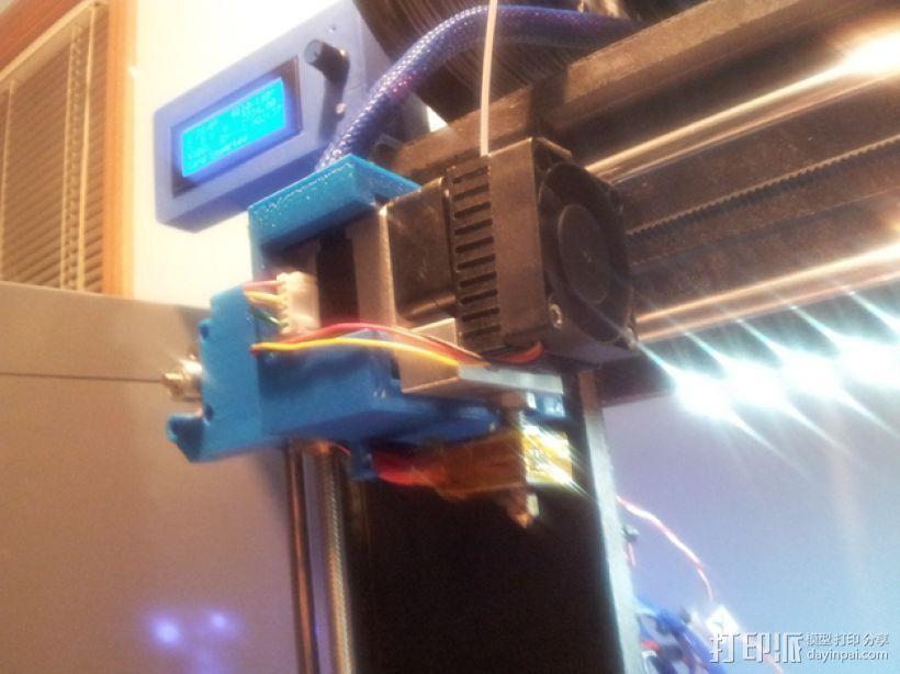 挤出机固定架 3D模型  图1