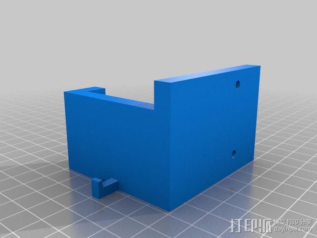 挤出机固定架 3D模型  图2