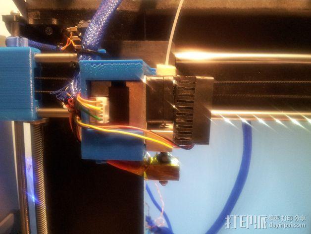挤出机固定架 3D模型  图4