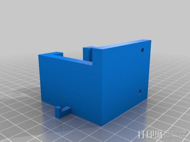 挤出机固定架 3D模型  图3