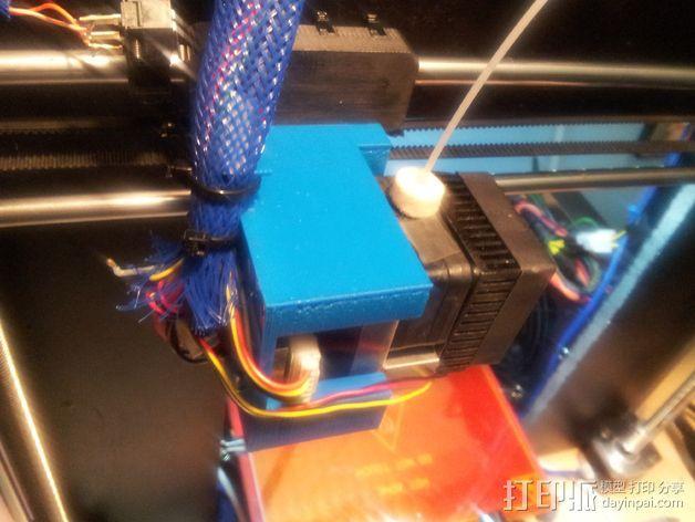 挤出机固定架 3D模型  图5