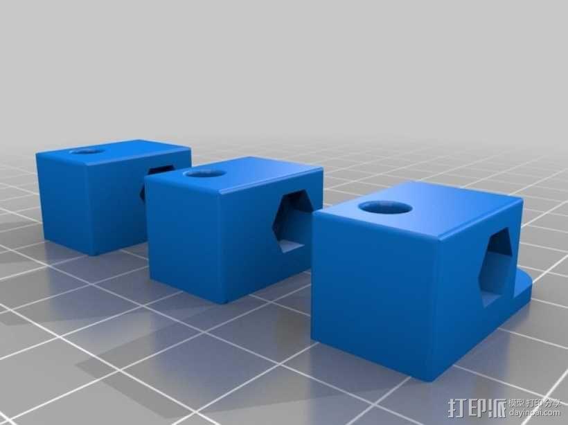 Mini Kossel 打印机的线轴支架 3D模型  图2