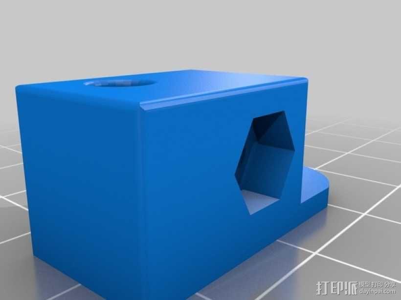 Mini Kossel 打印机的线轴支架 3D模型  图1