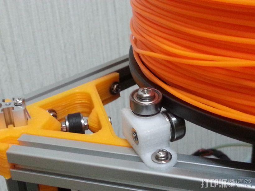 Mini Kossel 打印机的线轴支架 3D模型  图3