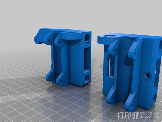 Prusa i3 打印机的 X ends 3D模型  图1