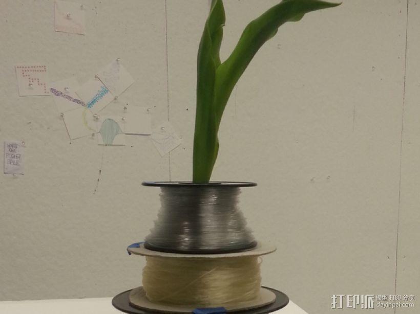 线轴花瓶 3D模型  图1
