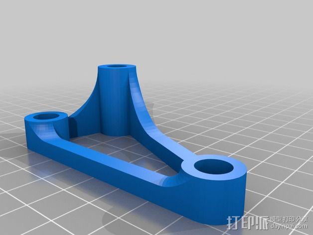 Printrbot Simple打印机的螺杆/光杆稳定器 3D模型  图1