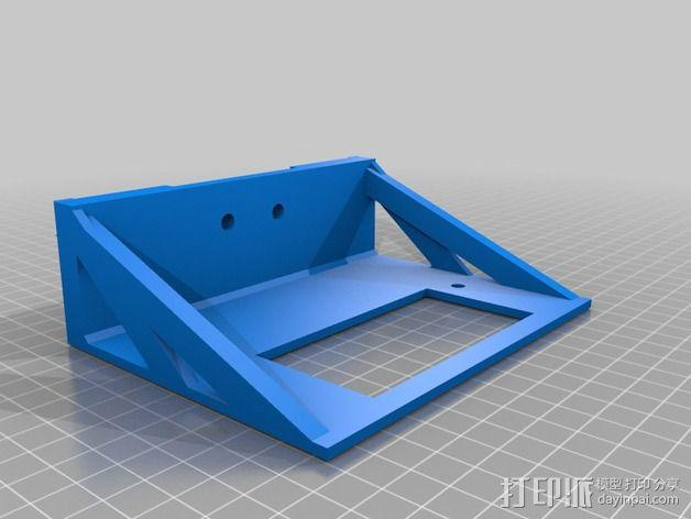 mk7控制器显示屏支架 3D模型  图1