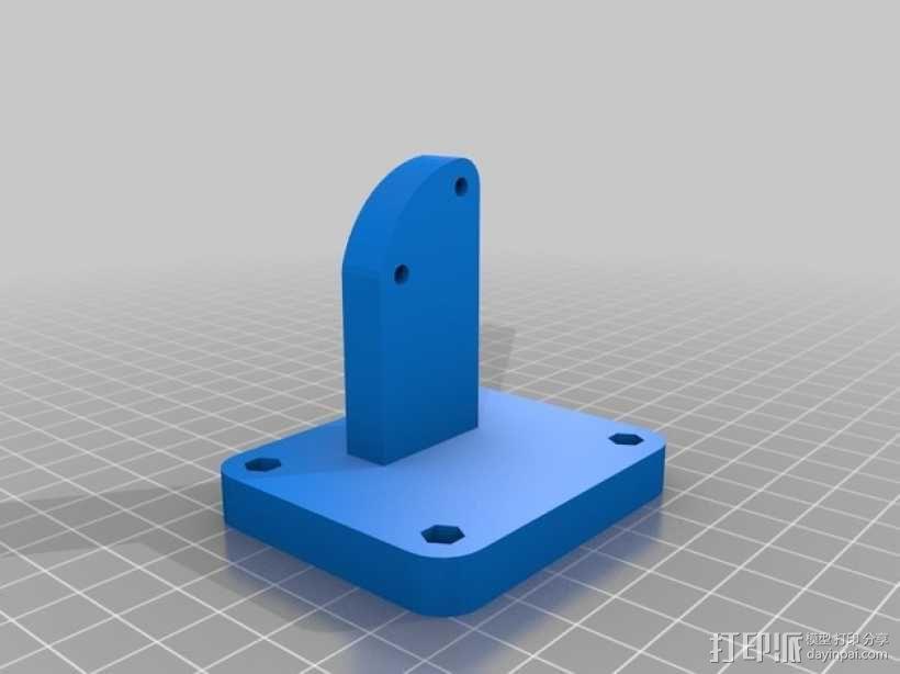 鲍登齿轮挤出机 3D模型  图2