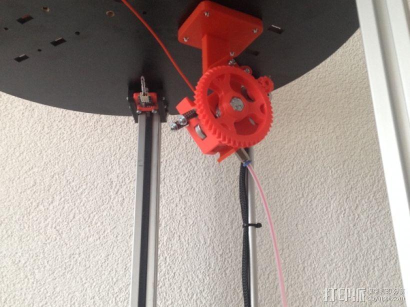 鲍登齿轮挤出机 3D模型  图1
