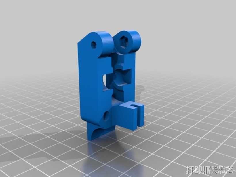 鲍登齿轮挤出机 3D模型  图3