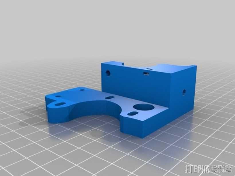 鲍登齿轮挤出机 3D模型  图4