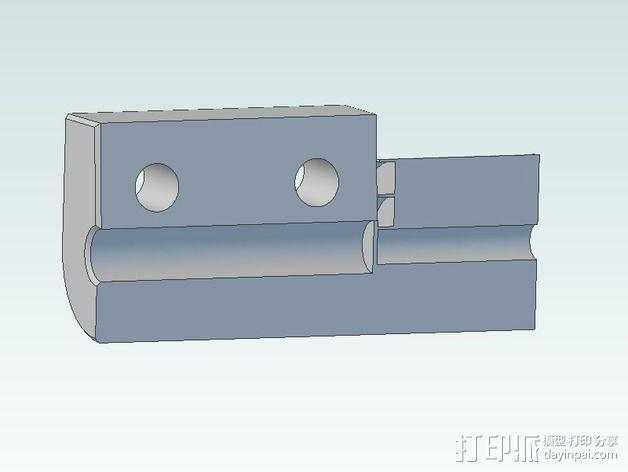 delta式挤出机电摩夹具 3D模型  图8