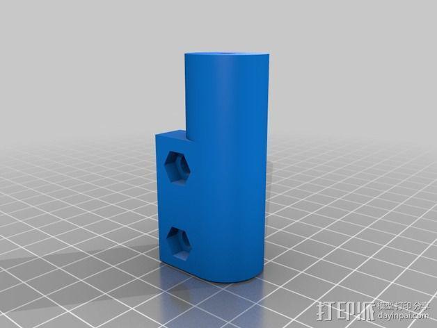 delta式挤出机电摩夹具 3D模型  图10