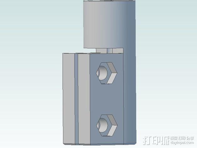 delta式挤出机电摩夹具 3D模型  图9