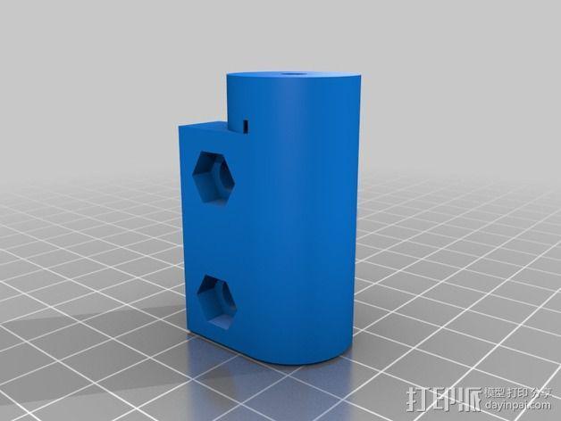 delta式挤出机电摩夹具 3D模型  图11