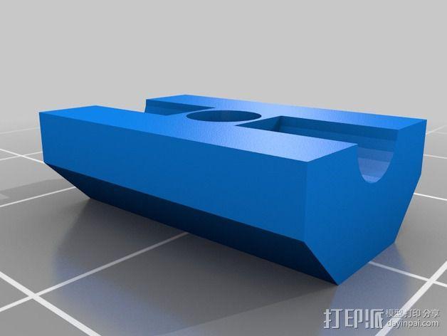 Delta 式3D打印机的螺杆接头 3D模型  图3