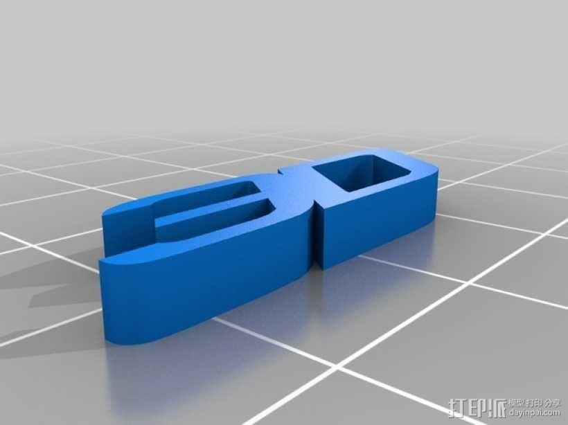 3D打印字母 3D模型  图1
