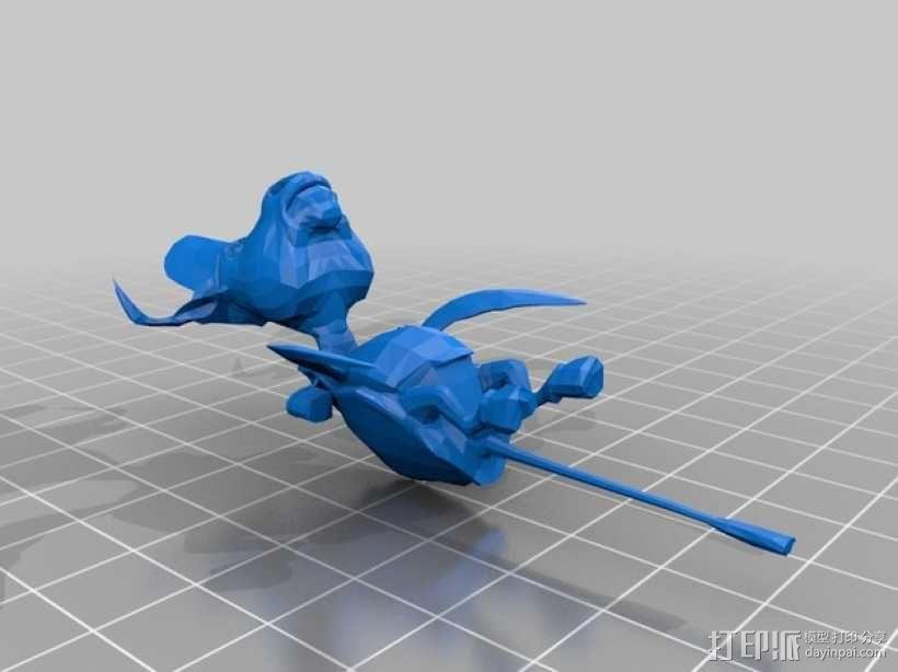 爱丽丝疯狂回归 Mock龟 3D模型  图1