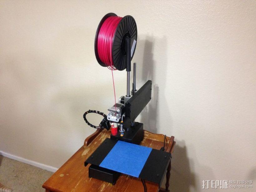 Printrbot Simple Metal打印机的线轴支架 3D模型  图4