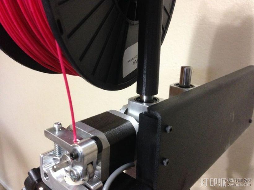 Printrbot Simple Metal打印机的线轴支架 3D模型  图5