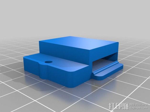 Printrbot Simple Metal 打印机的加热床固定器 3D模型  图3