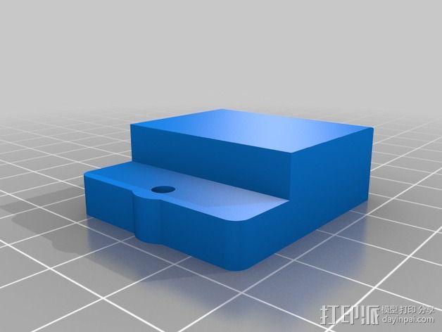 Printrbot Simple Metal 打印机的加热床固定器 3D模型  图2