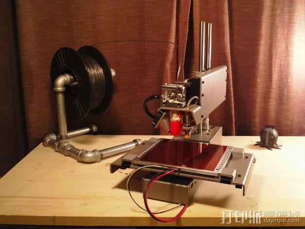 Printrbot Simple Metal 打印机的加热床固定器 3D模型  图7