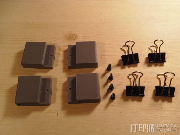 Printrbot Simple Metal 打印机的加热床固定器 3D模型  图5