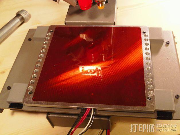 Printrbot Simple Metal 打印机的加热床固定器 3D模型  图8