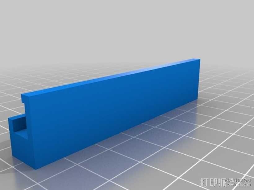 FlashForge creator 打印机玻璃板垫片 3D模型  图1