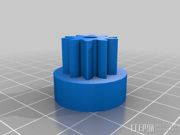 Greg's wade挤出机齿轮 3D模型  图3