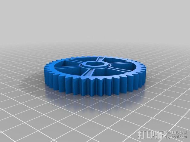 Greg's wade挤出机齿轮 3D模型  图4