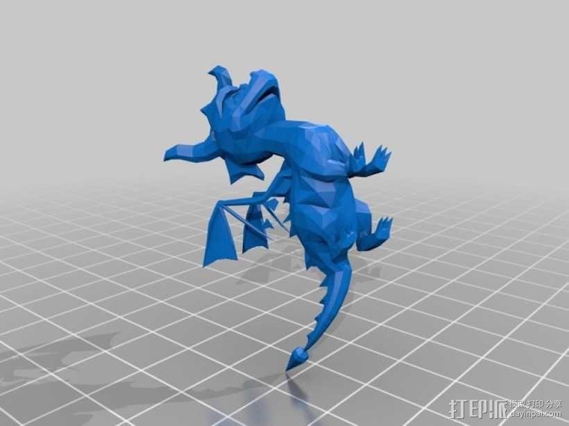 紫色小龙斯派罗 3D模型  图1