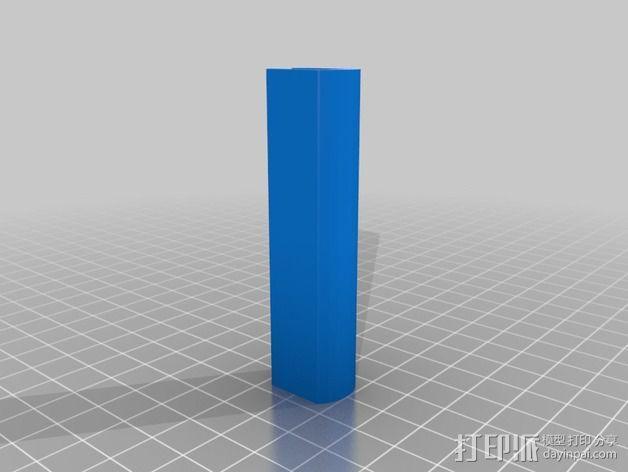 MakerFarm Prusa i3打印机的线轴支架 3D模型  图2