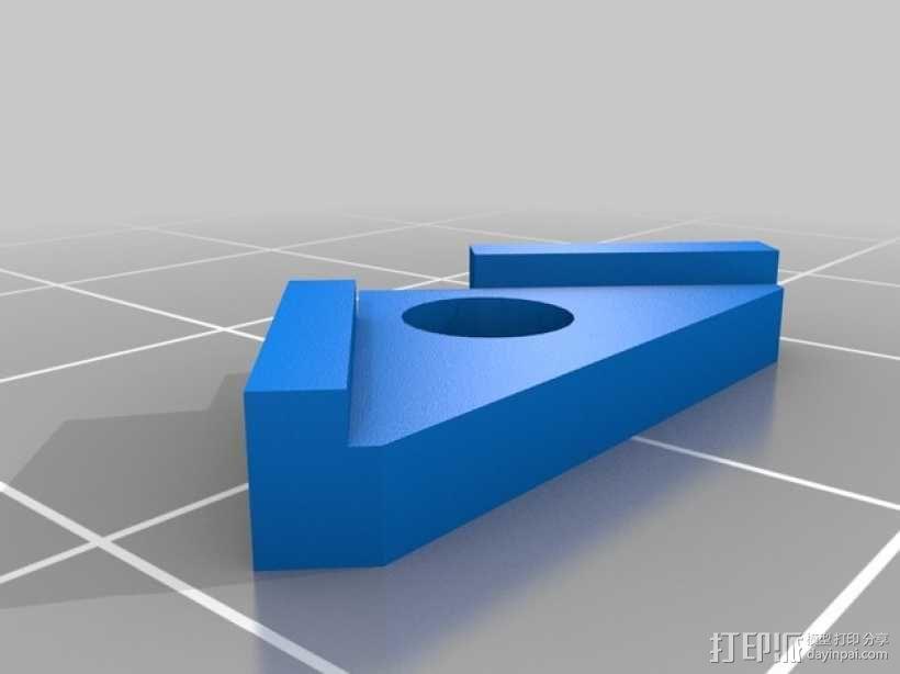 加热板固定配件 3D模型  图2