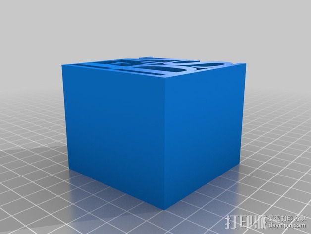 字母摆件 3D模型  图2