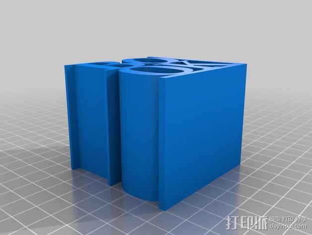 字母摆件 3D模型  图3
