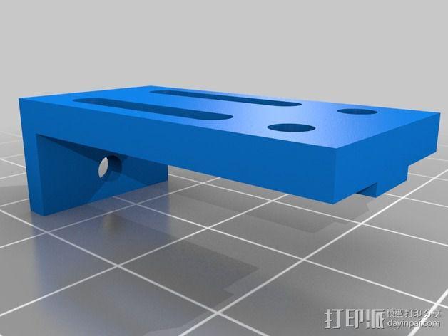可调整Z轴适配器 3D模型  图4