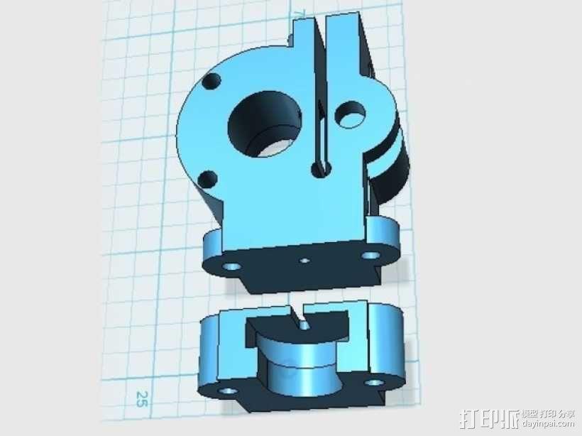 驱动分割器 3D模型  图1