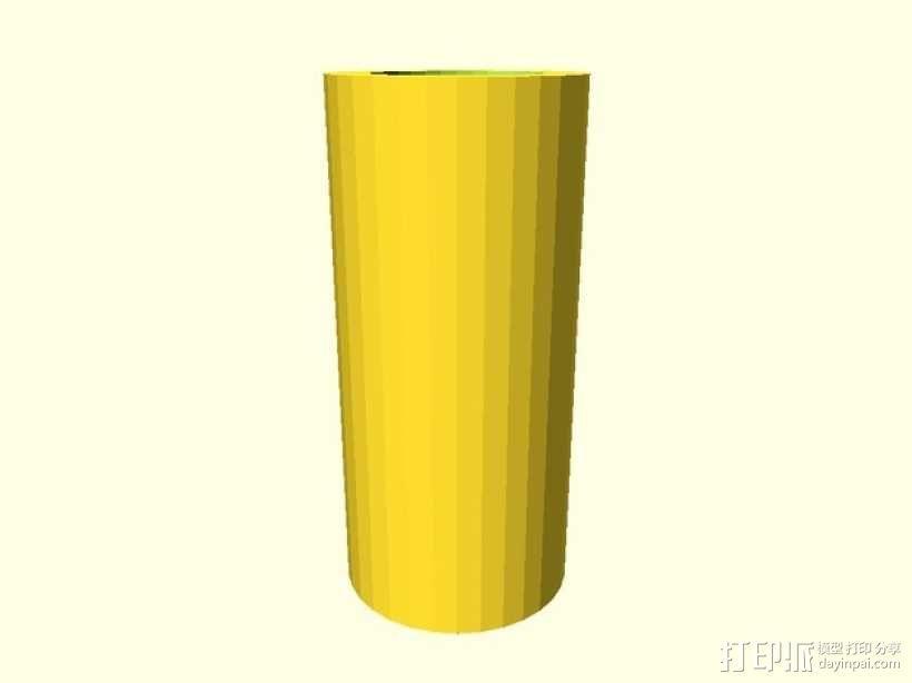 参数化间隔板 3D模型  图1