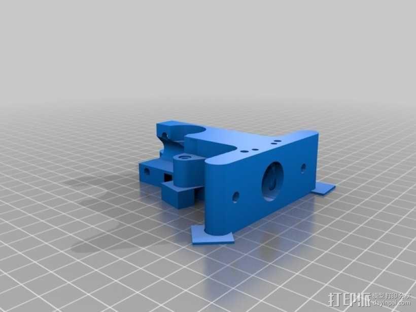Prusa i3挤出器 3D模型  图1