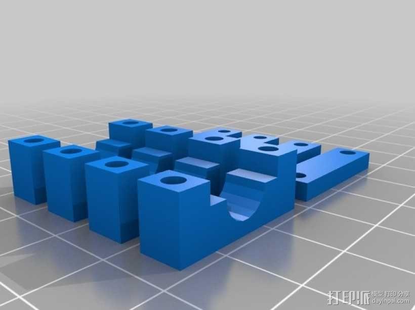 杆夹 3D模型  图2