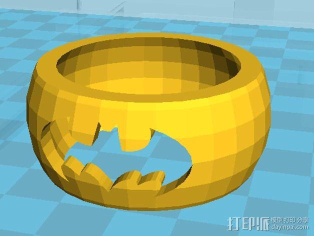 蝙蝠侠指环 3D模型  图1