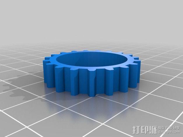 T形轴承 3D模型  图4