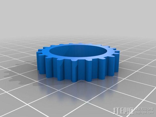 T形轴承 3D模型  图5