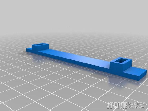 灯丝线轴架 3D模型  图3