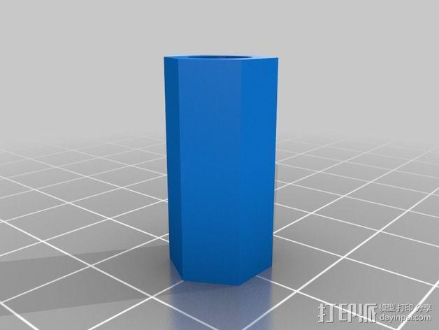 灯丝线轴架 3D模型  图4